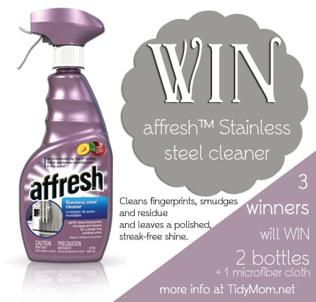Win affresh stainless steel cleaner at TidyMom