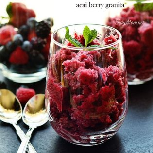 Vitamin Burst Acai Berry Granita #recipe at TidyMom.net