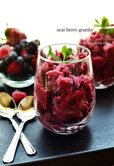acai berry granita at TidyMom