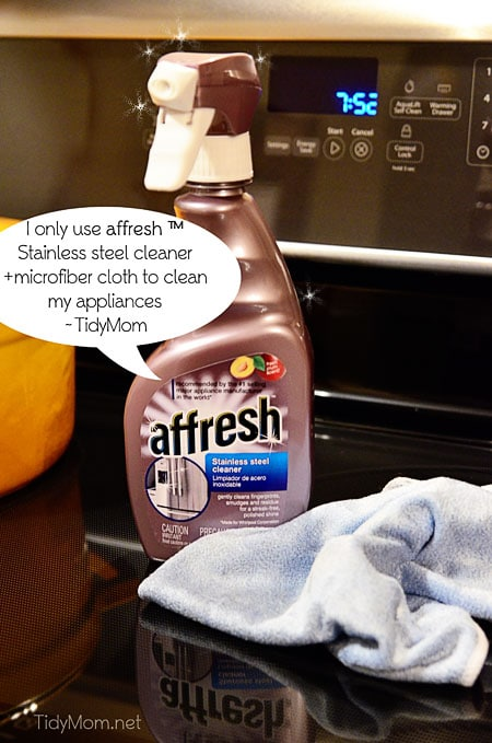 affresh stainless steel cleaner atTidyMom.net