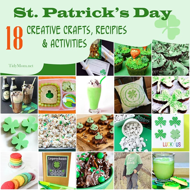 18 Creative Ideas for St. Patricks Day at TidyMom.net