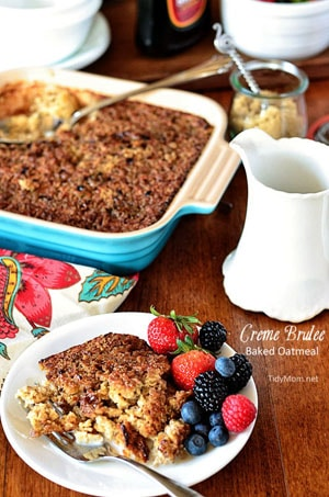 Creme Brulee Baked Oatmeal recipe TidyMom.