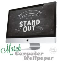FREE March Background Wallpaper at TidyMom.net