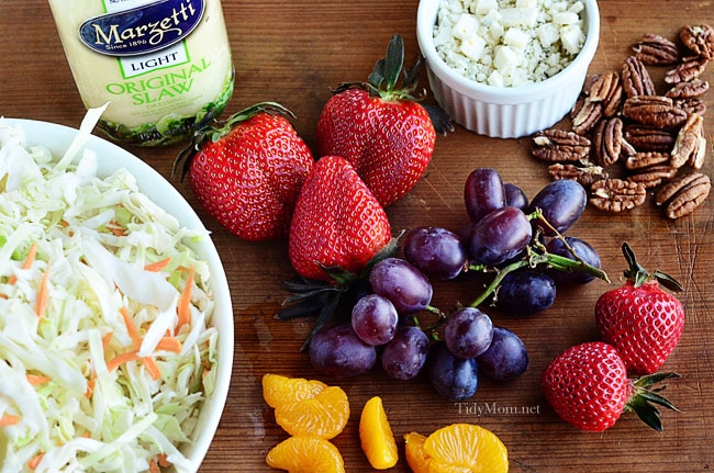 Fruit and Nut Slaw Ingredients at TidyMom