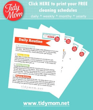 Print Free TidyMom Cleaning Schedules