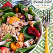 Strawberry Spinach Salad with Quinoa at TidyMom.net