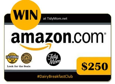 Win $250 Amazon code at TidyMom #DairyBreakfastClub