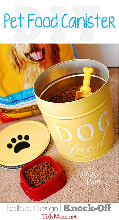 DIY Custom Dog Food Canister at TidyMom