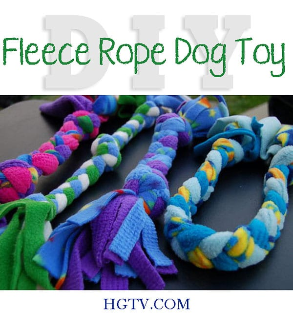 DIY Fleece Rope Dog Toy