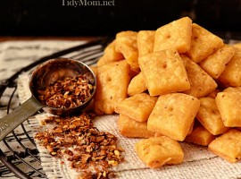Homemade Cheese Crackers recipe at TidyMom.net