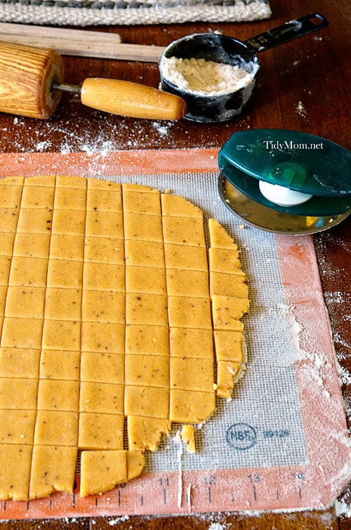 How to make Homemade Cheese Crackers 2 TidyMom