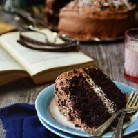 Malted Chocolate Cake with Toasted Marshmallow Cream Filling at TidyMom