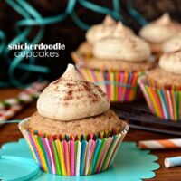 Snickerdoodle cupcakes at TidyMom.net