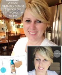 TidyMom wearing Covergirl Outlast Stay Fabulous 3-in-1 Foundation Test Drive