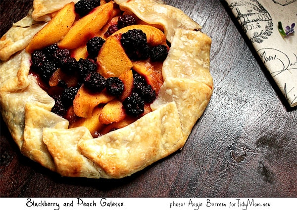 Blackberry and Peach Galette