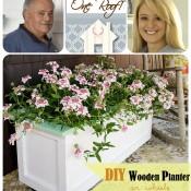 DIY Wood Planter on Wheels Tutorial at TidyMom