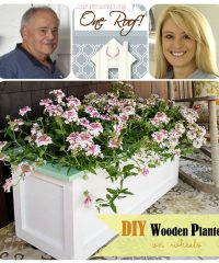 DIY Wood Planter on Wheels Tutorial at TidyMom