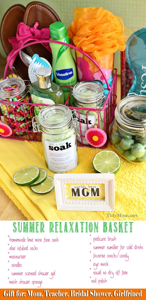 Mother's Day Summer Relaxation Basket at TidyMom.net