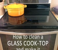 How To Clean A Glass Cook-Top and Make is SHINE at TidyMom.net