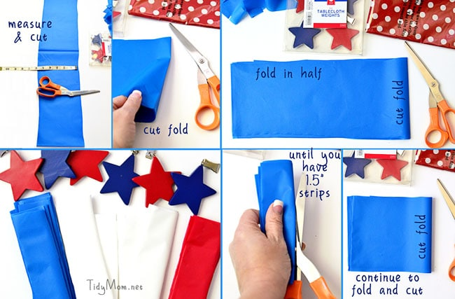 How to Make a Tablecloth Patriotic Wreath at TidyMom.net