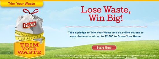 Take the pledge and Lose Waste, Win BIG with GLAD