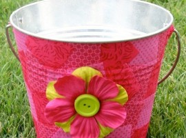 help keep the outdoors looking pretty while you deal with pesky insects. DIY Mod Podge outdoor candle with Amy Anderston of ModPodgeRocks at TidyMom.net