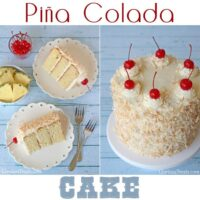 Pina Colada Cake by Glory Albin | recipe at TidyMom.net