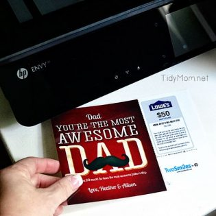 Print a greeting card with a gift card right at home