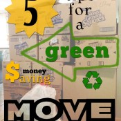 Tips for a Green Money Saving Move