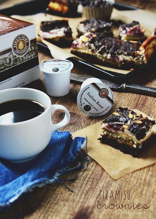 Tiramisu Brownies at TidyMom.net