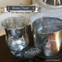 Tutorial for DIY Mercury Glass with Kim Demmon at TidyMom.net
