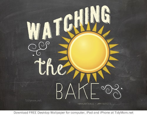 Watching the Sun Bake Summer June Chalkboard Wallpaper TidyMom