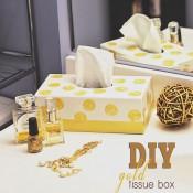 DIY Gold Tissue Box at TidyMom.net