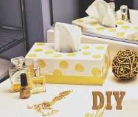 DIY Gold Tissue Box at TidyMom.net