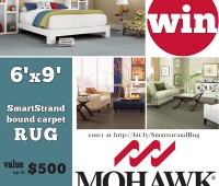 Enter to Win a 6'x9' Mohawk Smartstrand rug at TidyMom.net
