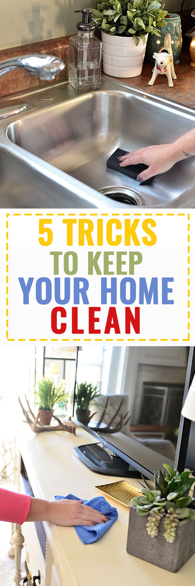 5 Tricks to Keep Your Home Clean at TidyMom.net