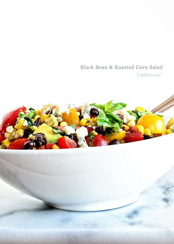 Black Bean and Roasted Corn Salad | recipe at TidyMom.net