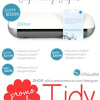 July Silhouette Promotion/Sale at TidyMom.net