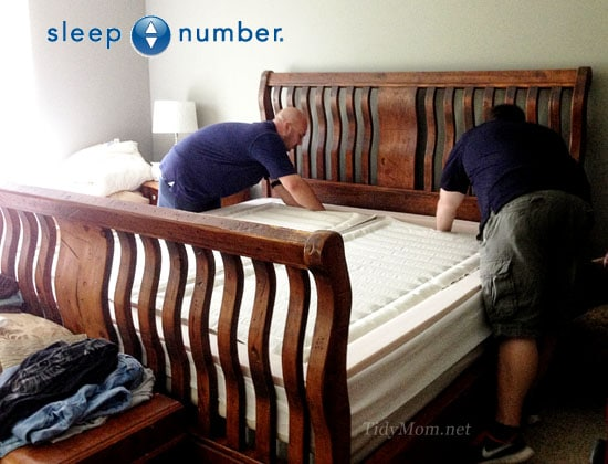 Setting up Sleep Number m7 King Sized Bed at TidyMom.net