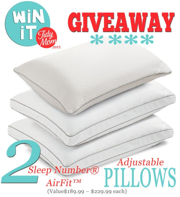 Win 2 Sleep Number® Air-Fit Adjusable Pillows at TidyMom.net