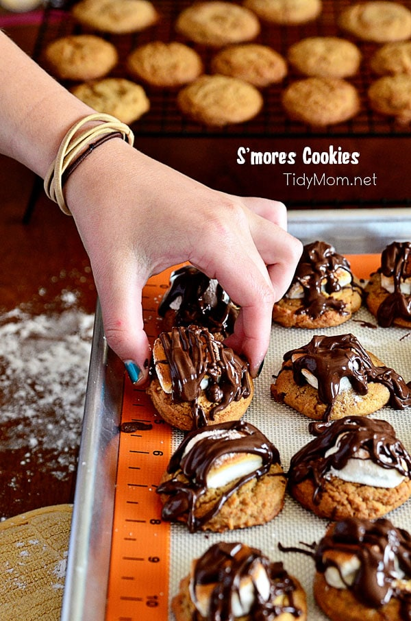 S'mores Cookies at TidyMom.net