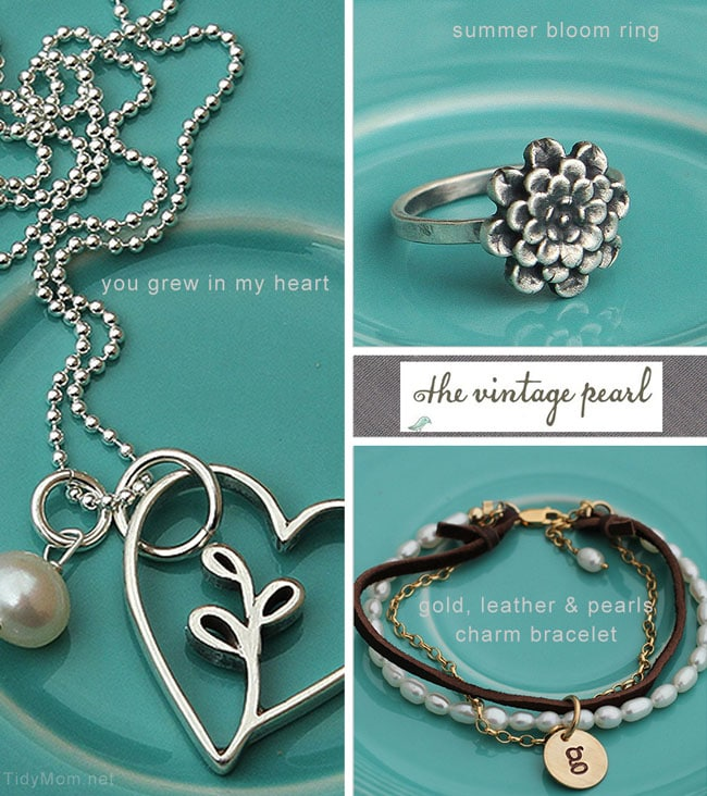 TidyMom Favorties from The Vintage Pearl, handmade jewelry