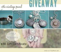 The Vintage Pearl Giveaway | TWO $50 Gift Certificates at TidyMom.net