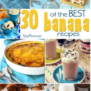 30 of the Best Banana Recipes at TidyMom.net