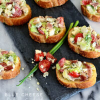 Blue Cheese Wedge Salad Crostini | Appetizer recipe at TidyMom.net