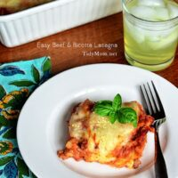 Easy Lasagna at TidyMom