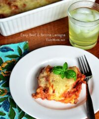 Easy Lasagna at TidyMom