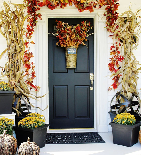 Fall Front Door at Thistlewood Farm