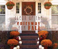 How to get your entry way ready for fall at TidyMom.net