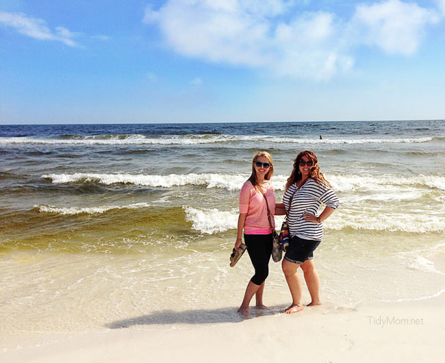 On the beach in Seaside FL